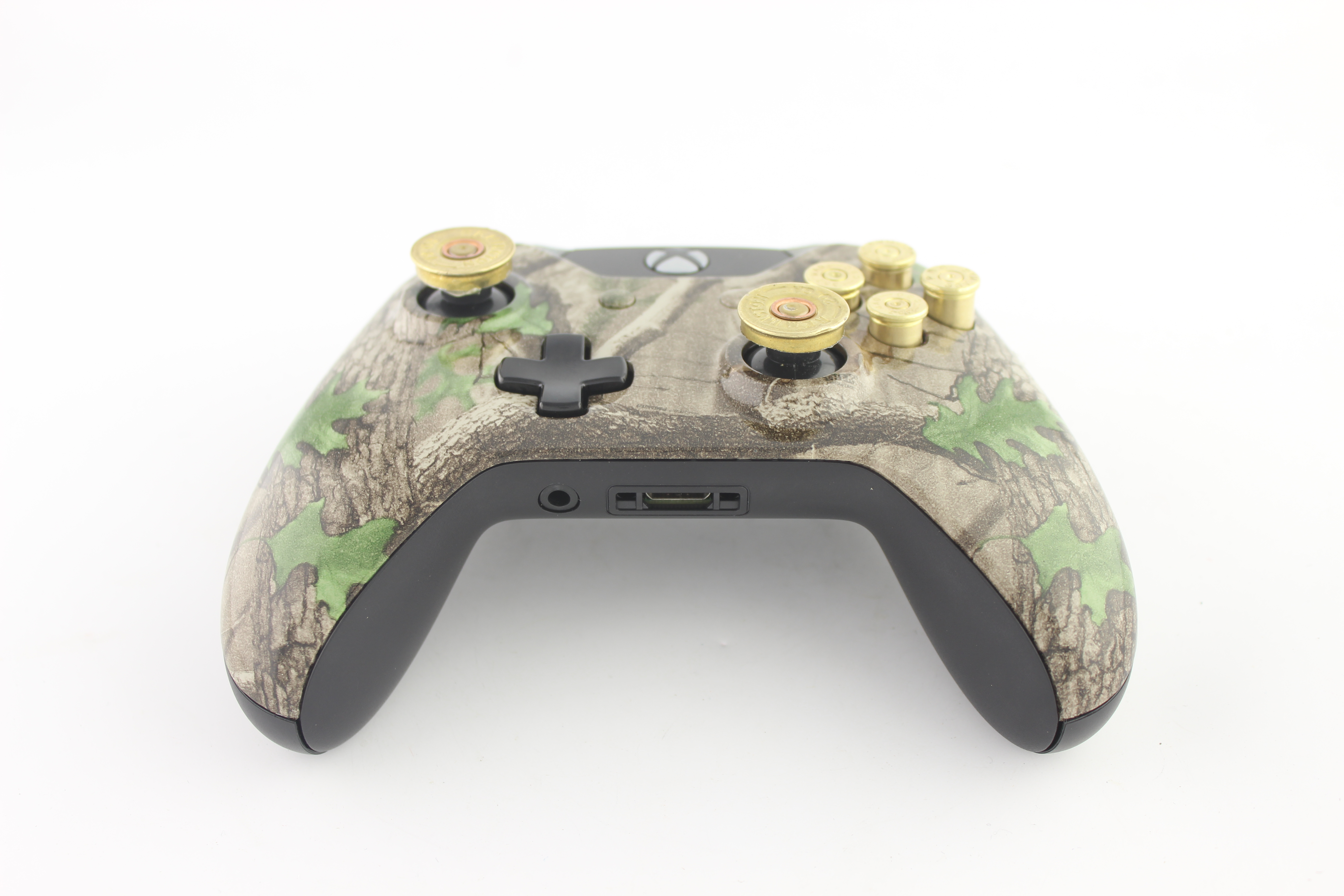 Green Leaf Camo Xbox One Controller with Bullet Buttons 8