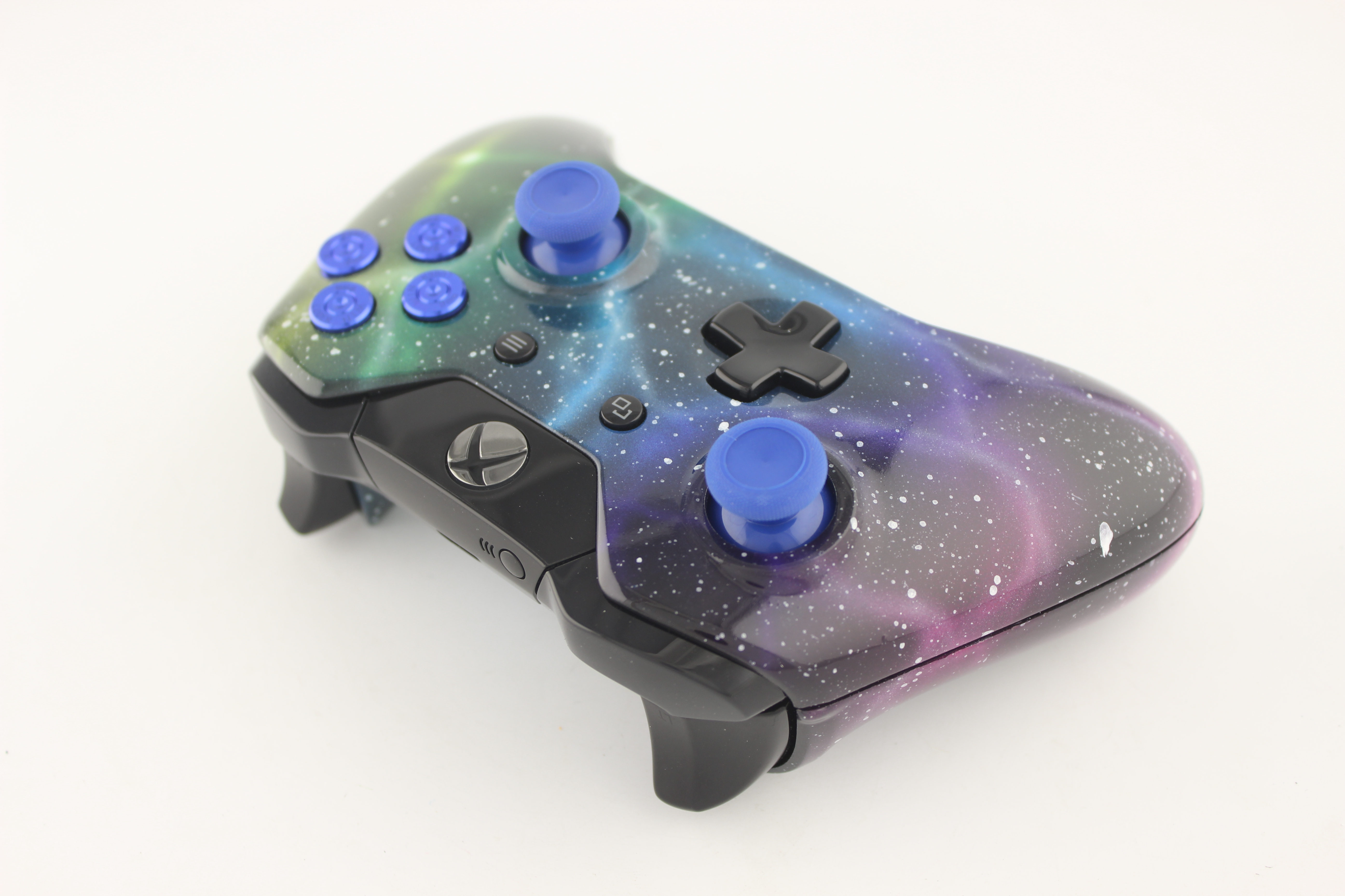 Nebula Xbox One Controller with Blue Bullet Buttons and Blue