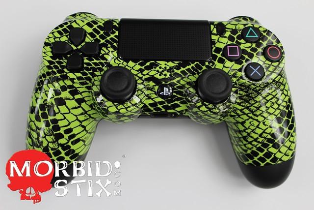 MorbidStix Green Snakeskin PlayStation 4 Controller