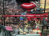 Paintball-Equipment Red and Black Carbon Fiber 2
