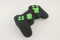 SureGrip PlayStation 3 Controller with All Green Buttons 1