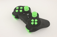 SureGrip PlayStation 3 Controller with All Green Buttons 3