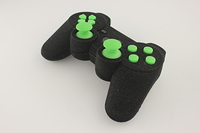 SureGrip PlayStation 3 Controller with All Green Buttons 7