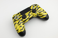 Yellow Tiger Stripes PlayStation 4 Contoller with Lit Buttons 3