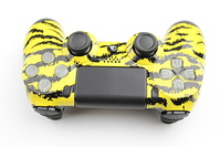 Yellow Tiger Stripes PlayStation 4 Contoller with Lit Buttons 6