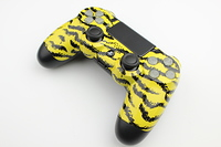 Yellow Tiger Stripes PlayStation 4 Contoller with Lit Buttons 9