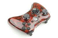 XBossMamaXs Dark Red Large Zombies Xbox 360 Controller