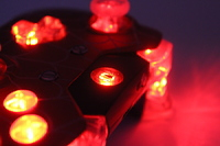 Red Chrome White Webs Lit Xbox One Controller