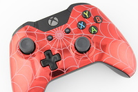 Red Chrome White Webs Xbox One Controller