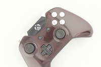 Red Cyber Carbon Fiber Xbox One Controller with Chrome Buttons