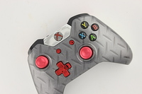 Silver Diamond Plate and Red Chrome Xbox One Controller