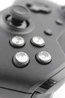 Stock Black Xbox One Controller with Diamond Buttons 1