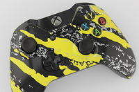 Yellow Savage Camo Xbox One Controller 2